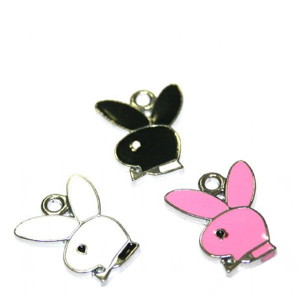 Bunny rabbit enamel charms